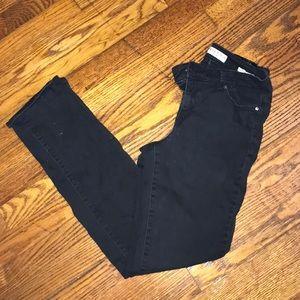 Black Anne Klein Straight Jeans